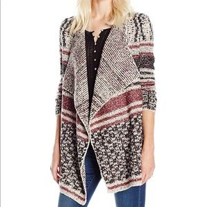 Lucky Brand Open Front Drape Cardigan, Size S